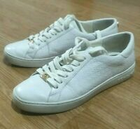 Michael Kors Trainers Leather Shoes White Ladies Size UK 5 EU 38