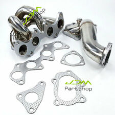 For Toyota Starlet EP82 EP85 EP91 TD04 Turbo Exhaust Manifold+Downpipe Decat SS
