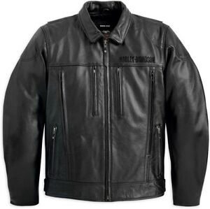 Harley-Davidson Men's Stone Leather Jacket Black 98037-12VM Size S