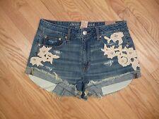 Womens NEW American Eagle Hi-Rise Festival Floral Denim Shortie Jean Shorts 10