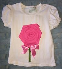 Tutu & Lulu Shirt With Rose Flower Embellishment 2-3T