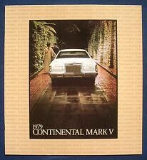 Prospectus brochure 1979 LINCOLN Continental Mark V (USA) Prestige