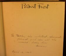 Robert Frost SIGNED Selected Poems 1926 1st Edition 2nd Printing RARE DJ
