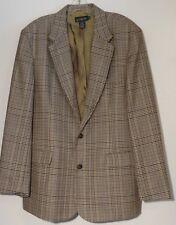 J Crew 100% Wool Tweed Three Button Sport Coat Blazer Suit Jacket Size 42R