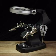 Magnifier LED Alligator Clip Soldering Welding Helping Hand Stand W/ USB Cable
