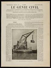 1908, Grue flottante de 100 tonnes (Buenos aires, Argentine)