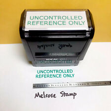 New Listinguncontrolled Reference Only Rubber Stamp Green Ink Self Inking Ideal 4913