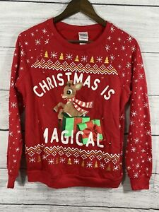 Rudolph The Red-Nose Reindeer Light Up Christmas Sweater Sz S 3-5