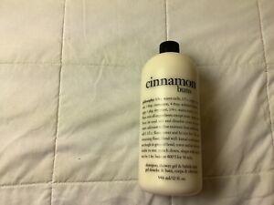 Philosophy NEW 32 Oz CINNAMON BUNS Shampoo Shower Gel Bubble Bath no pump