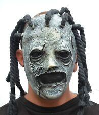 Tribal Witch Doctor Rasta Slipknot Halloween Mask with Dreads Latex realistic