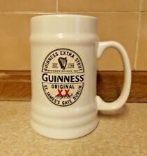 Guinness Original XX Extra Stout - White Ceramic Tankard