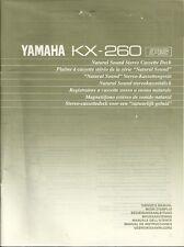 Yamaha KX-260 User Manual BDA Bedienungsanleitung