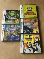 5 Authentic Nintendo DS E Rated Games with Cases & Manuals