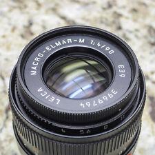 Leica Macro Elmar M 90mm f4 Lens (Black) 11633