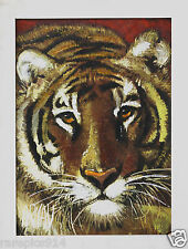 Tiger by Arnan Vintage  Signed Oil Painting on Canvas