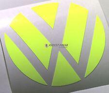 Emblem esquinas amarillo flúor atrás VW Golf 6 VI GTI GTD Turbo R lámina logotipo Heck