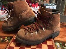 Vtg Mens DEXTER Hiking Boots sz  9.5 Suede Leather Alpine Mountaineering Vibram