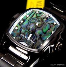 Invicta Grand Lupah Blue Green Abalone Steel Gunmetal Bracelet Watch New
