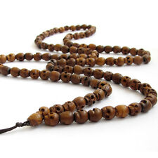 8mm*7mm Tibet Buddhist 108 Jujube Wood Skull Prayer Beads Mala Necklace