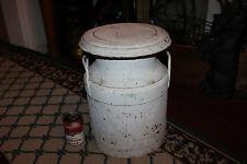 Antique NJ Farms Metal Milk Dairy Container Quality Chek'd Farms Whitehouse NJ