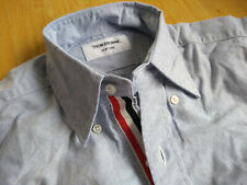 New Thom Browne Blue Oxford Cloth Button Down Grosgrain TB0 14-31 MSRP $425