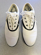"""Footjoy """"Comfort"""" white and black leather golf shoes, Women's 8.5 Narrow"""