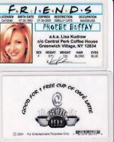 Lisa Kudrow of FRIENDS Phoebe Buffay NY Drivers License fake id card