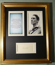 ROBINSON JEFFERS POET RARE VINTAGE SIGNED MATTED DISPLAY AUTOGRAPHED  w/COA