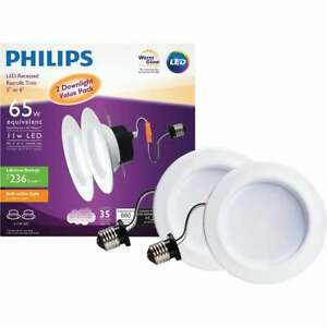 Philips Warm Glow 5 In. or 6 In. Retrofit IC/Non-IC Rated White LED Recessed