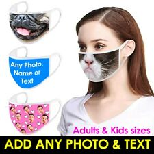 Personalised FACE MASK Covering WASHABLE REUSABLE Mens Womens Adult kids UK