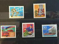 German DDR 1977 Fire Brigade. 5 stamp set MNH  E1991