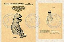 1959 KERMIT THE FROG Puppet Patent - Jim Henson/Jane Nebel - Muppets PM#901