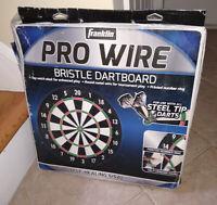 """Franklin Sports Dartboard 18"""" Pro Wire Bristle Dart Board Game Play Tournament"""