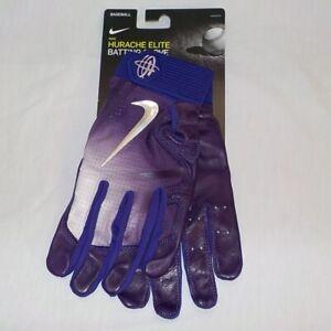 Nike HUARACHE ELITE Baseball Batting Gloves PURPLE WHITE PGB544 560 Men Size XL