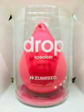 Zumreed Drop Speaker Portable Color Pink Water Resistant Shock Proof Brand New