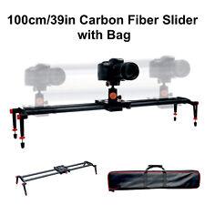 39in Carbon Fiber Camera Slider Track Tripod Mount w/ Bag for DSLR Photography