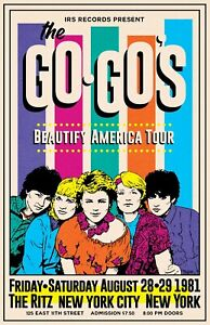 The Go-Gos 1981 Concert Poster