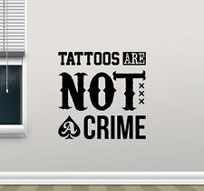 Tattoo Quote Wall Decal Studio Salon Poster Vinyl Sticker Decor Art Mural 78bar