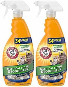 Arm and Hammer Cat Litter Deodorizer Spray 21.5 Fl Oz 2-Pack