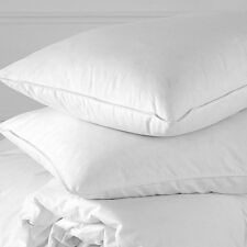 Standard / Queen Feather & Goose Down Pillow in Cotton Cover w/ Cashmere Layer