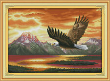 Joy Sunday The Flying Eagle Counted Cross Stitch Kit 14CT 25in * 18in Embroidery