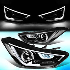 FOR 2011-2013 HYUNDAI ELANTRA 3D LED DRL+AMBER TURN SIGNAL PROJECTOR HEADLIGHTS