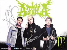 ATTILA SIGNED CHAOS MONSTER ENERGY DRINK PROMO PHOTO PROOF COS CD LP