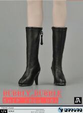 "1/6 Female Leather Boots HOLLOW For 12"" PHICEN TBLeague Hot Toys Figure ☆USA☆"