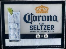 """Corona Hard Seltzer Spiked Sparkling Water 21"""" X 18"""" Led Lighted Motion Sign New"""