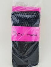 2 pair Betsey Johnson Tights/Collants Black  FishNet Sz S/M