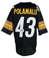 Troy Polamalu Signed Custom Black Pro Style Football Jersey BAS ITP