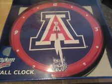 Wincraft sports Arizona Wildcats wall clock Ncaa round hanging clock 12.75""