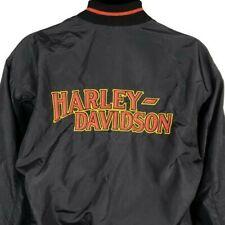 Harley Davidson Satin Bomber Jacket Vintage 80s Motorcycle Made In USA Medium