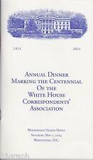 *NEW* 2014 White House Correspondents' Association Dinner Program Barack Obama
